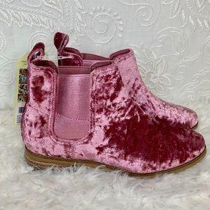 6 Toms Velvet Bootie Pink Ella Faded Rose Boot